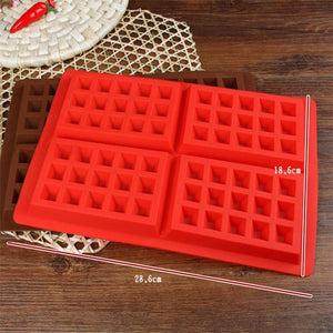 High Quality Silicone Waffle Mold For Kids Cake Waffle Mould Bakeware Nonstick Silicone Baking Mold Set Muffin Pastry Mold