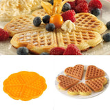 Practical Kitchen Silicone Mini Round Waffles Pan Cake Baking Mould Mold Waffle Tray High quality Waffles Mould #31830