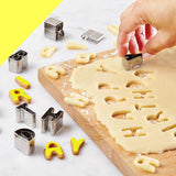 Kitchen Tools 26 Letters Bakeware Mold For Cake/Chocolate/Cookies And Bread 430 Stainless Steel Metal Baking Waffle Molds