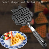 Heart Shape Household Kitchen Gas Non-Stick Waffle Maker Pan Mould Mold Press Plate Baking Tool Cafe Waffle Baking Mold