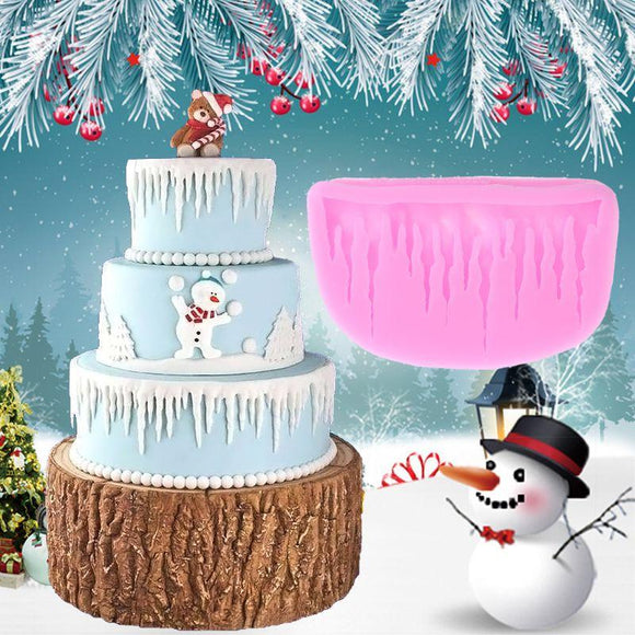 Icicles Cake Decoration Silicone Mold Sugarcraft Frozen Fondant Cake Christmas Decor