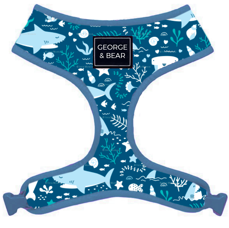 baby shark george and bear dog harness
