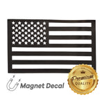 WHITE RHINO™ American Flag Car Magnet Decal