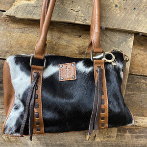 STS33212 Cowhide Satchel Bag