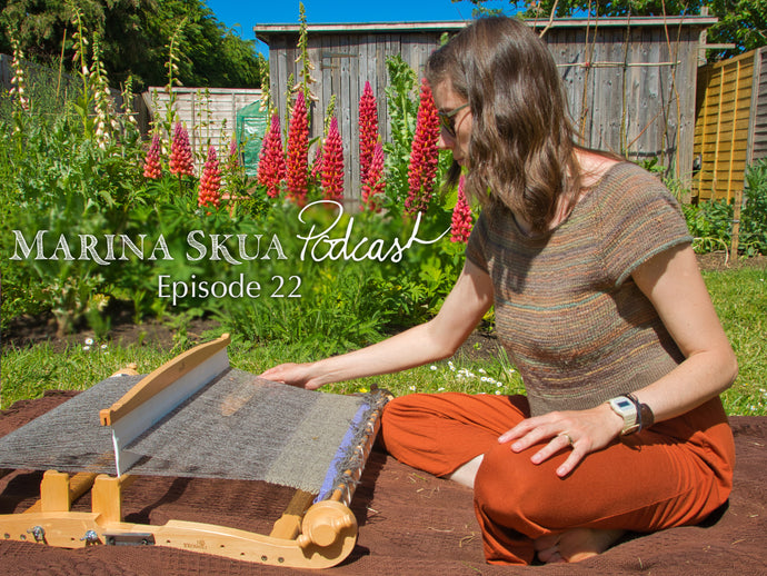 Episode 22 of the Podcast – Knitting injuries, weaving on a rigid heddle loom, and May blooms