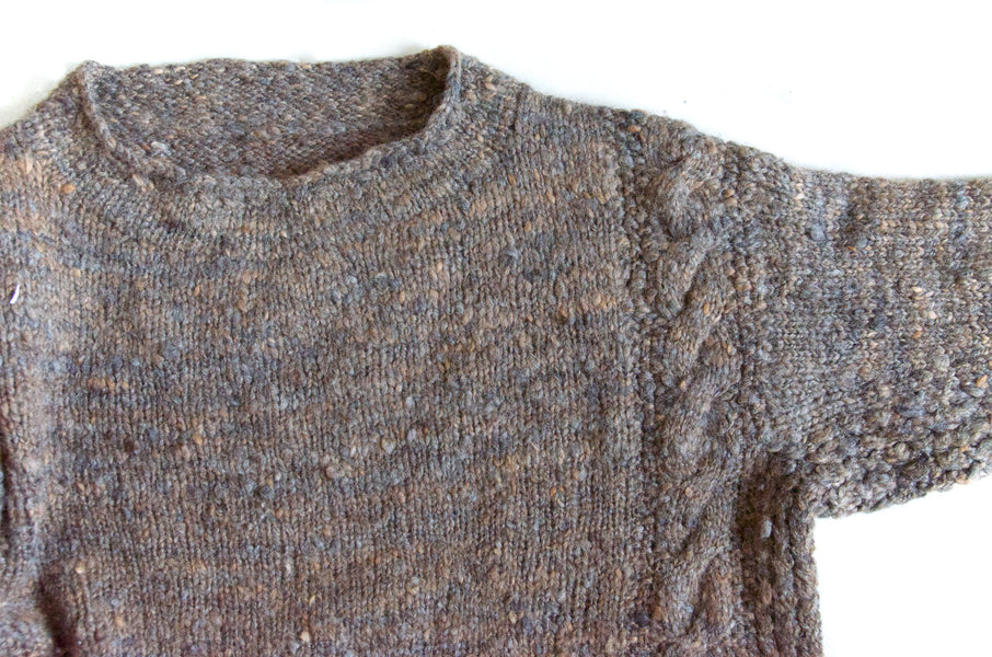 Slow fashion: a hand-spun jumper