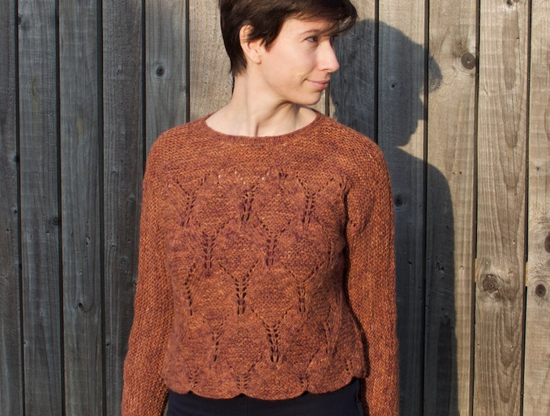 The Skua Rhombille Jumper – Combining Yarns and Altering Sizing