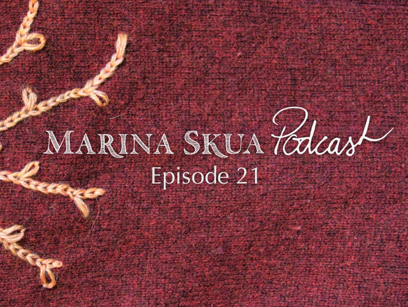 Episode 21 of the Podcast – New hats, embroidered mending, and Virtual Wonderwool