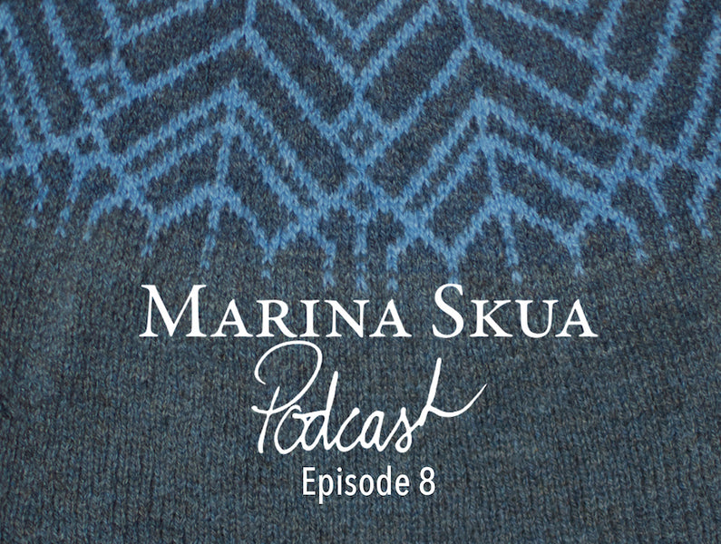Episode 8 of the Podcast – Jumper knitting, Making Stories, and weaving with green