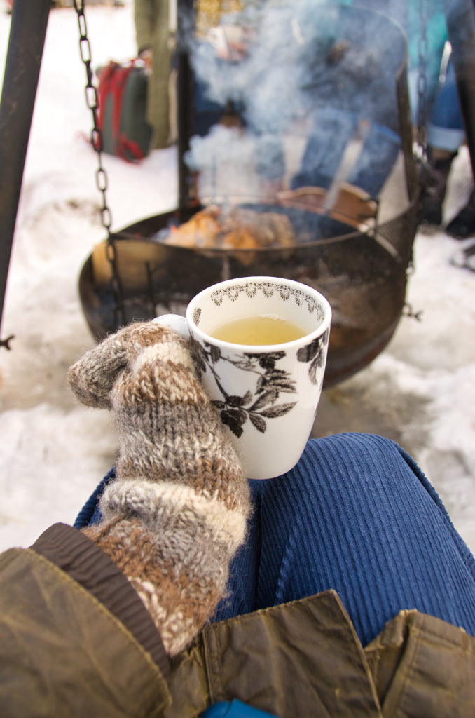 Birch tea by the fire