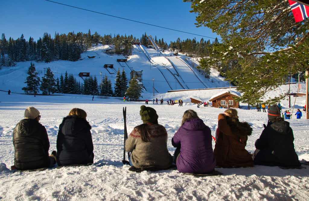 Knitters by the slopes