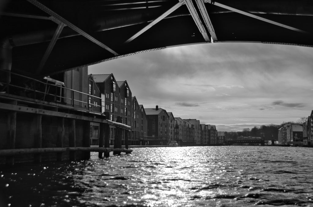 Trondheim from under a bridge
