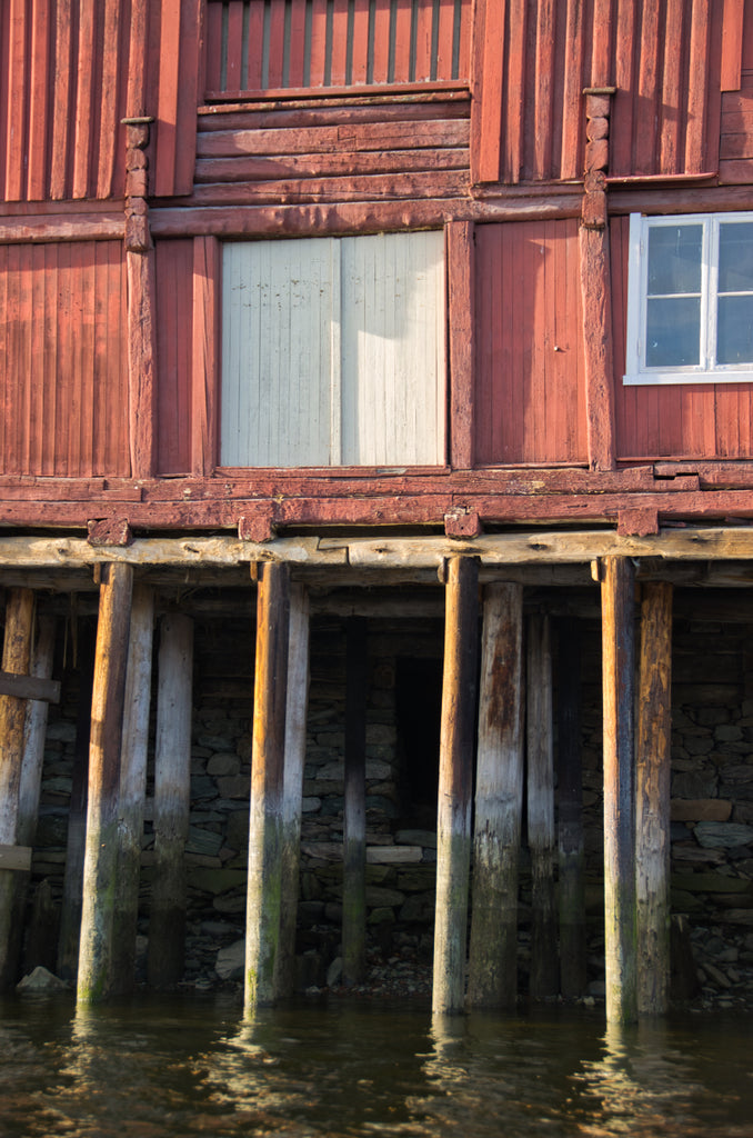 House on stilts in Trondheim
