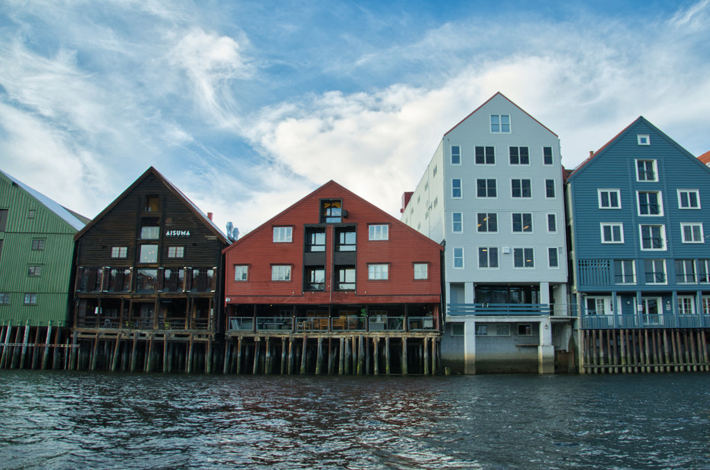 Wharf houses in Trondheim