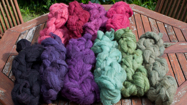 Marina Skua dyed fibre for Fernhill Farm