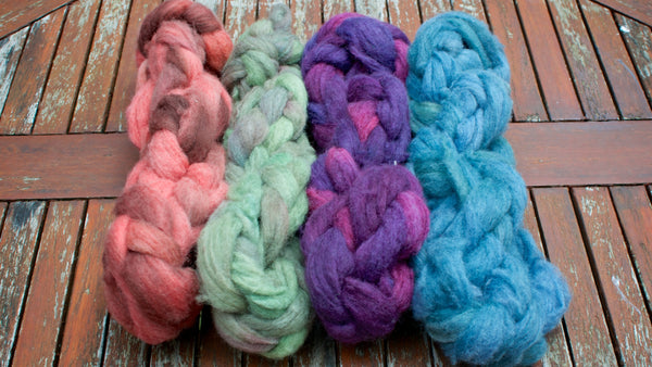 Variegated dyed fibre for Fernhill Farm