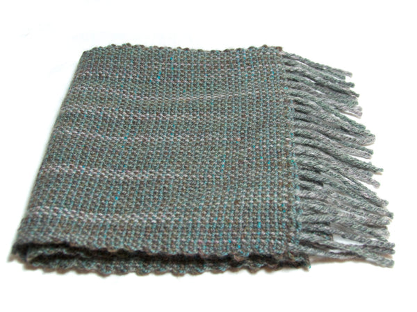 Soft textured hand-woven scarf