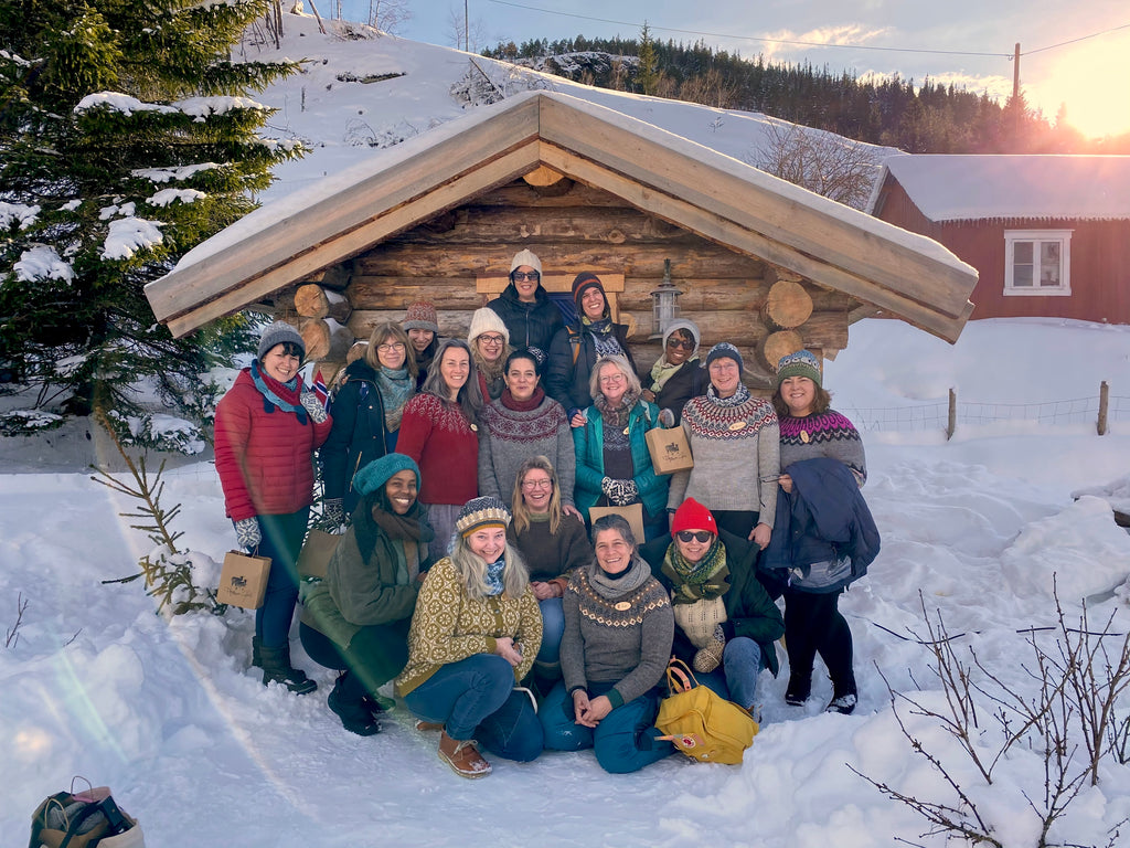 The whole Knitography Retreat group!