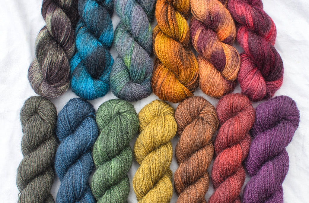 Full range of Caia Baby Alpaca yarn colours