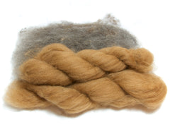 Carded wool and alpaca fibre