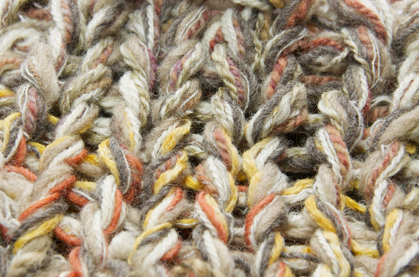 Loom-knitted textured fabric