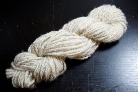 Skein of hand-spun Peak District yarn