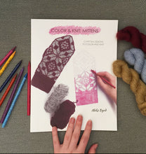 Load image into Gallery viewer, Color & Knit, Mittens book by Aleks Byrd