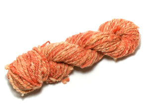 Carrot Soup – Handspun wool Art Yarn in orange (70g)