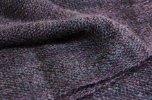 Load image into Gallery viewer, Dark purple mohair hand-woven scarf