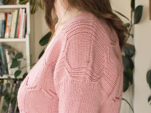 Hexangle jumper knitting pattern