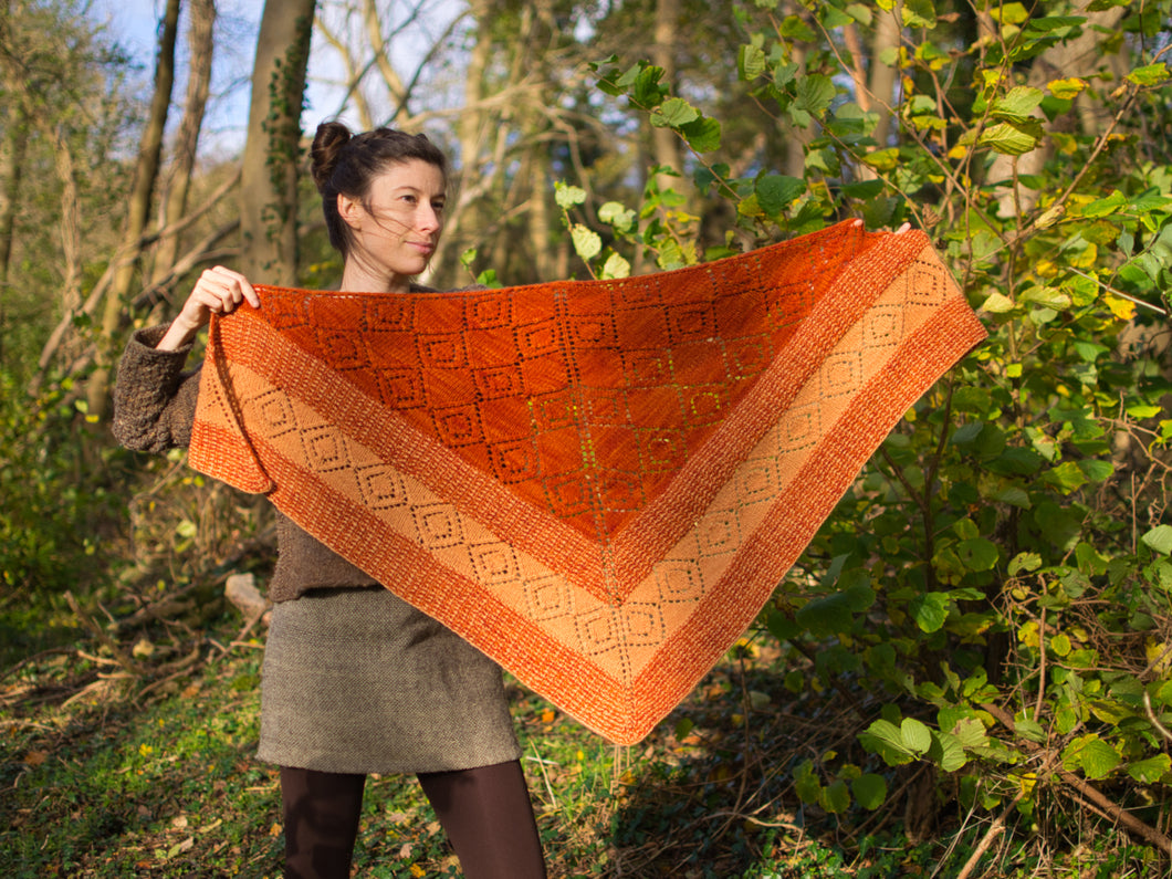 Pearroc Shawl knitting pattern