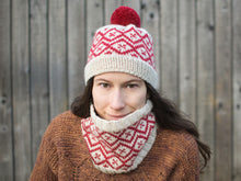 Load image into Gallery viewer, Snowpane Hat and Cowl knitting pattern