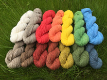 Load image into Gallery viewer, Mini-skein Mendip 4-Ply – Fire (Stormy)
