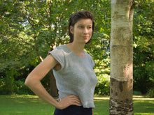 Load image into Gallery viewer, Oak Moss tee knitting pattern