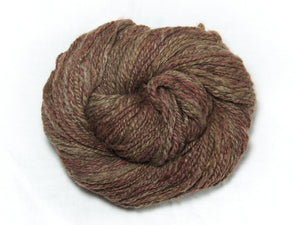 Forest Floor – Hand-spun Bluefaced Leicester wool in earth tones (90g)