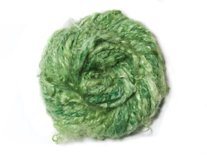 Pothos – Hand-spun Mohair Yarn in Green (160g)