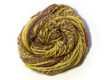 Load image into Gallery viewer, Sunsoaked – Hand-spun Bluefaced Leicester wool and Soy in yellow and earth tones (50g)