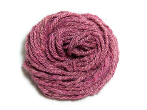 Cherry Blossom – Hand-spun Bluefaced Leicester Wool/Soy/Angora Yarn in Pink (100g)