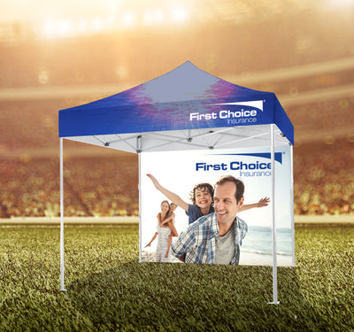 HASSLEFREE™ 10' X 10' Tent w/ Full Color Canopy and Back Wall