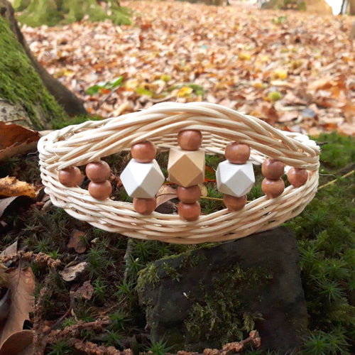 Handwoven Rattan Crown for Children | Natural