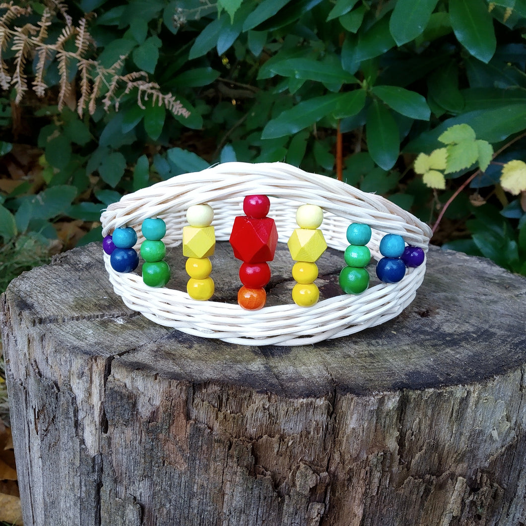 Handwoven Rattan Crown for Children | Rainbow
