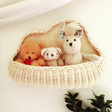 Load image into Gallery viewer, Cloud-shaped Rattan Wall Basket | Hanging Basket | Toy Storage | Handwoven