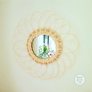 Handwoven Rattan Mirror | Decorated with Rattan | Zen Decor | Home Decor Inspired by Nature | Mindful Gift