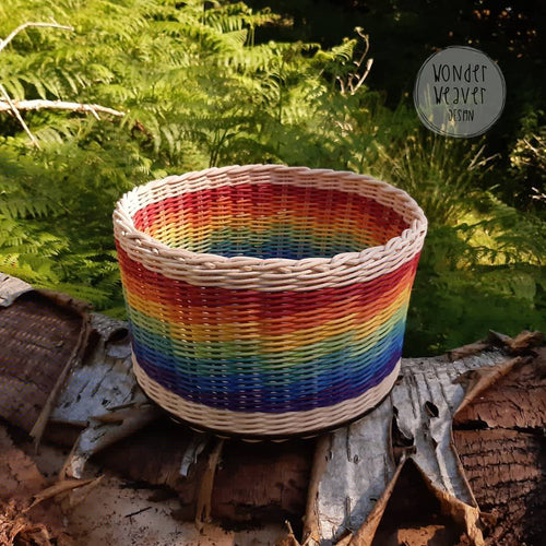 Large Rainbow Rattan Storage Basket | Unique | Handwoven | Handdyed | Kids Room Storage