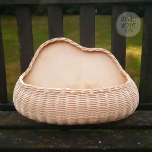 Cloud-shaped Rattan Wall Basket | Hanging Basket | Toy Storage | Handwoven