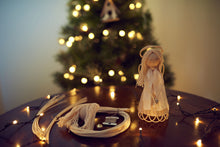 Load image into Gallery viewer, Christmas DIY Basketry Kit | Angel | Rattan/Cane, Make Your Own | WonderWeaver Design | Christmas Decor | Christmas Craft