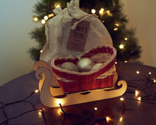 Load image into Gallery viewer, Christmas DIY Basketry Kit | Santa's Sleigh - Festive | Rattan/Cane, Make Your Own | WonderWeaver Design | Craft Kit | Christmas Decoration