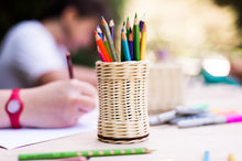 Load image into Gallery viewer, DIY basketry kit for beginners | Pencil Holder