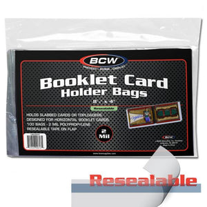 Resealable Booklet Card Holder Bags