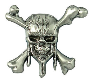 Pirates of the Caribbean - Skull and Cross Bones Pewter Lapel Pin